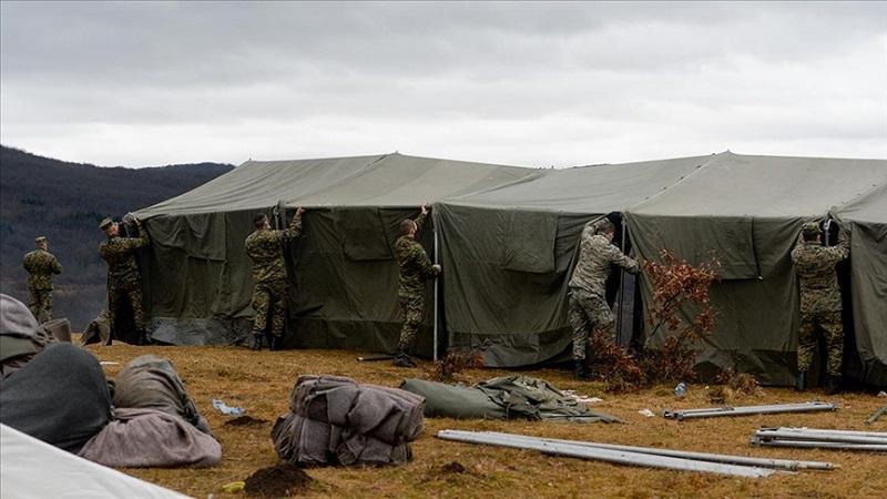 """oruzane-snage-bih-pocele-montirati-satore-za-migrante-u-kampu-""""lipa"""""""